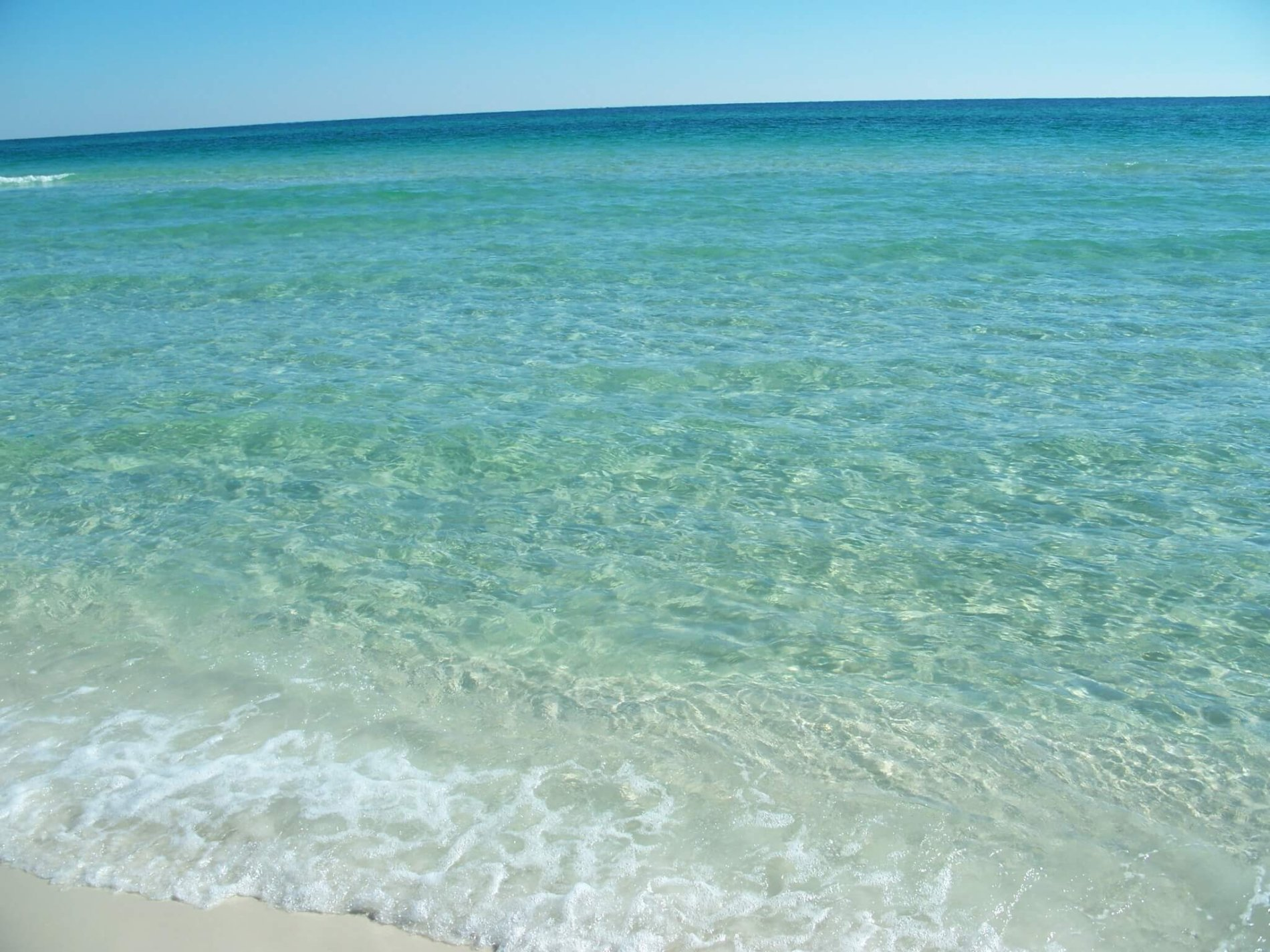 White Sandy Beach Emerald Coast